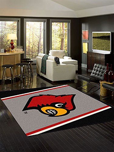 Milliken 4000053862 Louisville College Team Spirit Area Rug, 3'10