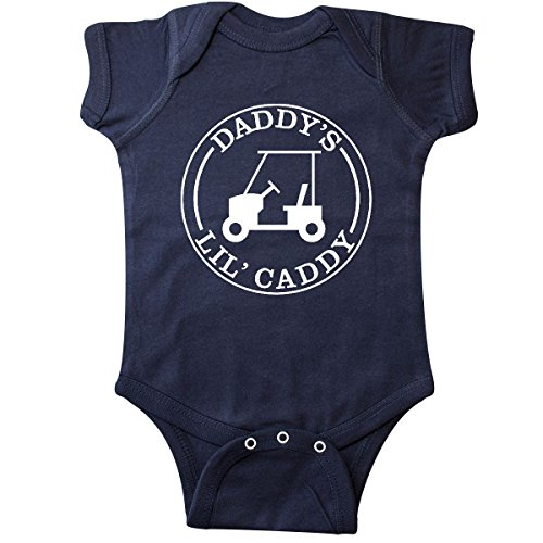 inktastic - Daddy's Lil Caddy Infant Creeper 18 Months Navy Blue 26876