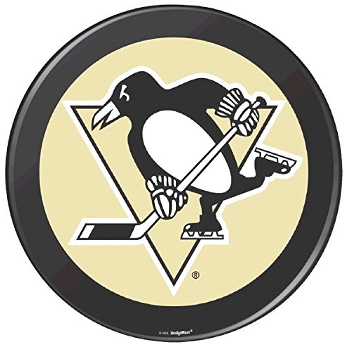 Sports and Tailgating NHL Party Pittsburgh Penguins Round Cutout Decoration, 1 Piece, Made from Paper, NHL and Sports Party Theme, 12