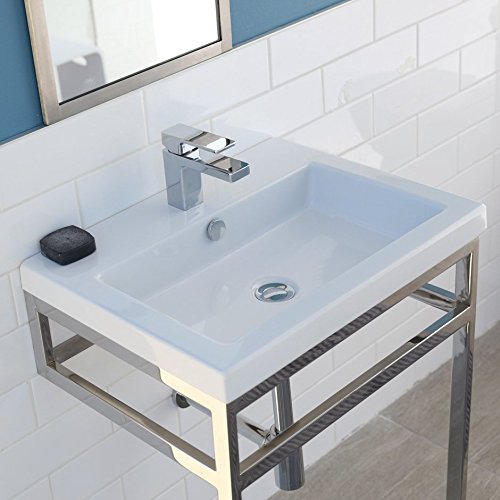 "Wall-mount, vanity top or self-rimming porcelain lavatory with an overflow. 00 - no faucet holes, W: 23 5/8"", D: 17 7/8"", H: 5 3/8. (Hole Self Rimming Lavatory Sink)"