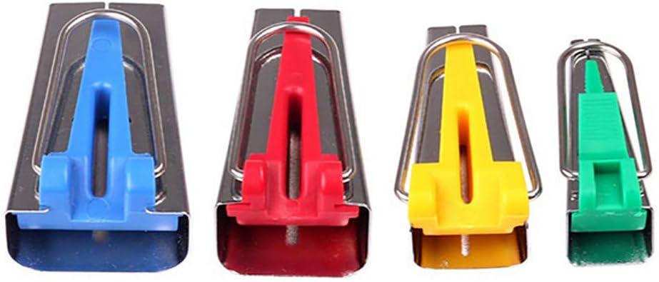 6mm 12mm 18mm 25mm Set of 4 Size Fabric Bias Tape Maker Tool Sewing Quilting Supplies Bias Binding Maker Kit