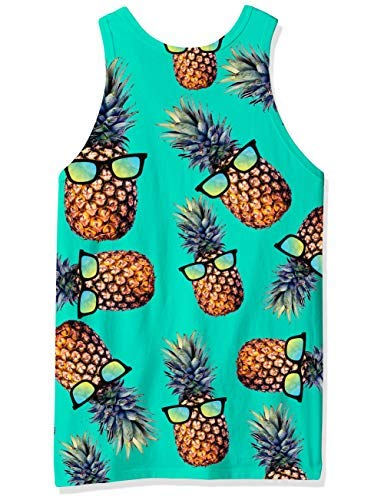 Senza Gym Canotta Pattern Maniche xxl Pineapple Uomo Printed Alisister Top S Grafica 3d Casual Tank Summer wUnRnYqB