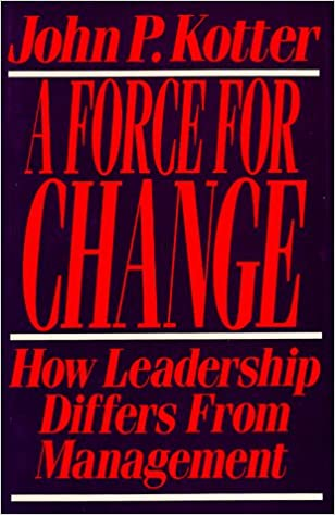 Force For Change : How Leadership Differs from Management