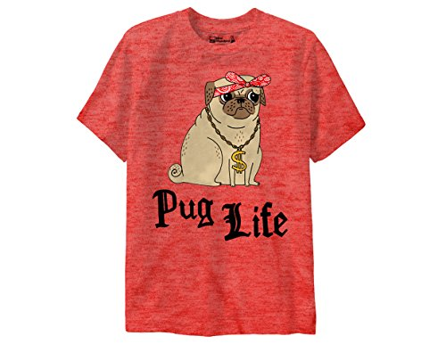 Standard Junction (Ripple Junction New Standard Gemma Correll Pug Life Junior T-Shirt XL Heather Red)