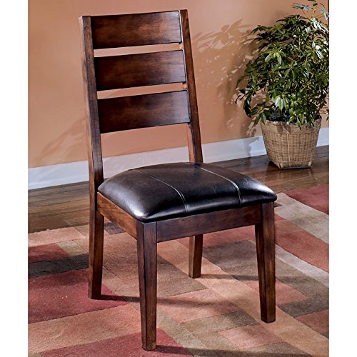Dark Brown Upholstered Dining Side Chair (Set of 2)