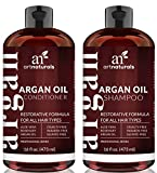 Art Naturals Organic Moroccan Argan Oil Shampoo and Conditioner Set (2 x 16 Oz) - Sulfate Free - Volumizing & Moisturizing, Gentle...
