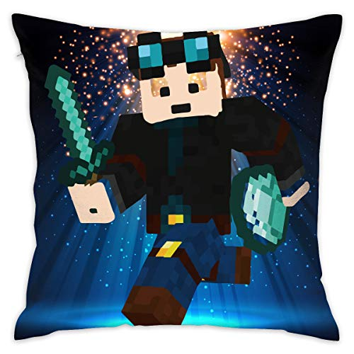 LixuA Pillow Covers Video Game Minecraft Character Skin Home Decor Throw Pillow Covers Cushion Cover ()