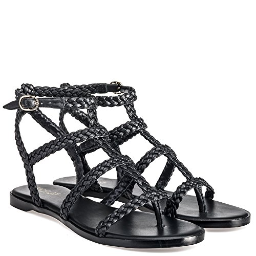 Rachel Zoe Damen India Baby Calf Sandalen Black