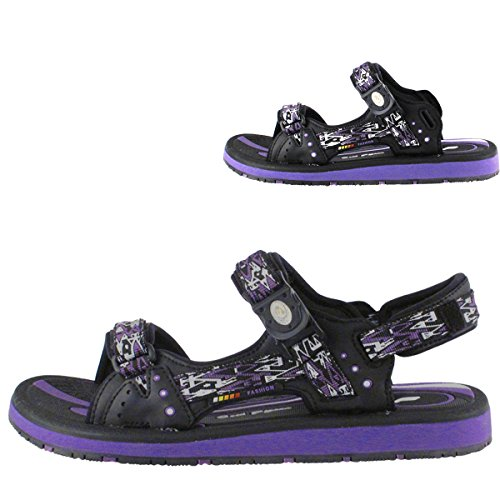 Gold Pigeon Shoes GP9175 SNAP Lock Outdoor Sandals: 9118 Black Purple, EU36 (Big Purple Slide)