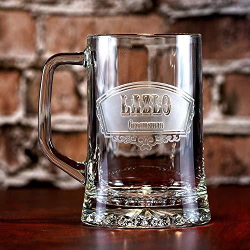 Groomsmen Beer Mugs, Best Man Gifts (set of 4) (Best Man Rehearsal Dinner)