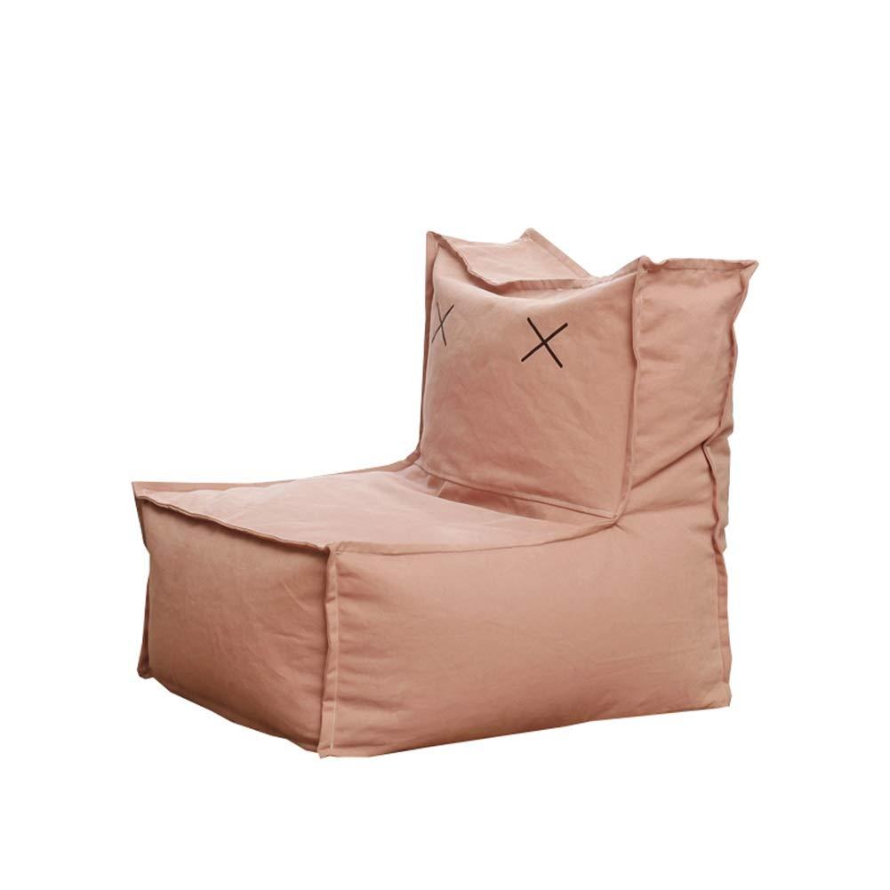 YJchairs Sitzsack - Faules Sofa mit Rückenlehne EPP Kindersitz Einziger Stuhl (Farbe   Rosa Canvas) Rosa Canvas