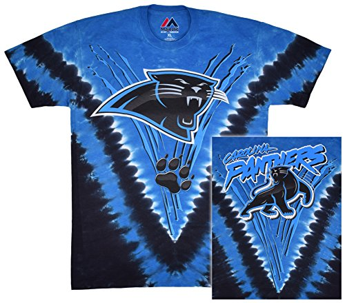 Carolina Panthers- Logo V-Dye (Front/Back) T-Shirt Size L