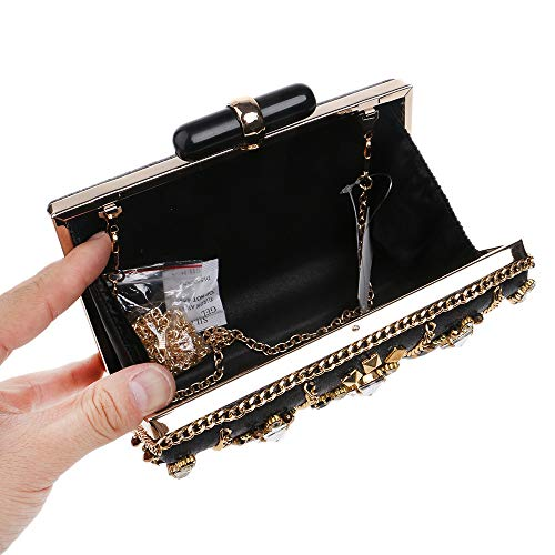 Clutch Evening Banquet Handbag Dress Frosted Techecho Bag Party Beaded Bag Ladies Purse Bridal Evening 1q556wR