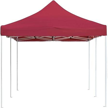 vidaXL Carpa Plegable Profesional Aluminio Cenador Pagoda Pérgola Fiestas Celebraciones Salones Estructuras Recintos Parasoles 6x3 m Rojo Vino Tinto: Amazon.es: Hogar