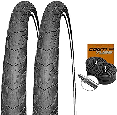 Conti Ride City Reflex - Juego de 2 neumáticos para Bicicleta (26 ...