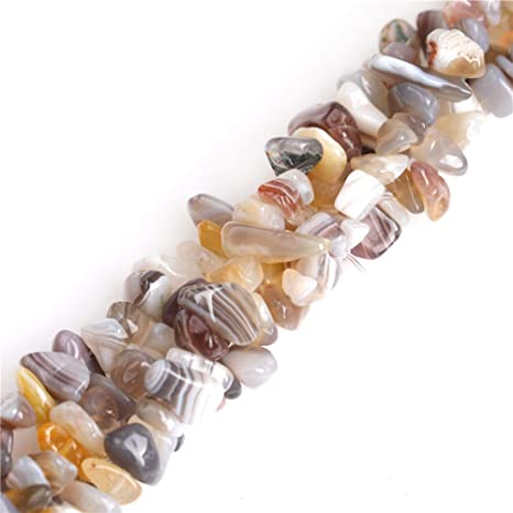 """7-8mm Natural Gemstone Chips Jewelry Making Spacer Beads Strand 34/"""""""