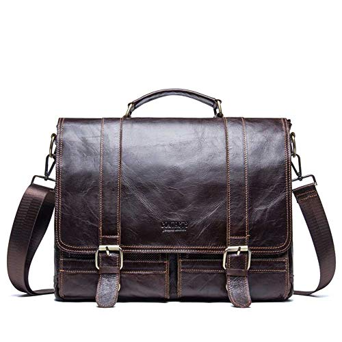 Protective Charm Men's Leisure Storage Briefcase Crossbody Xuanbao Business Handbag Bags Women Bag Leather A handbag Real 070qZIw
