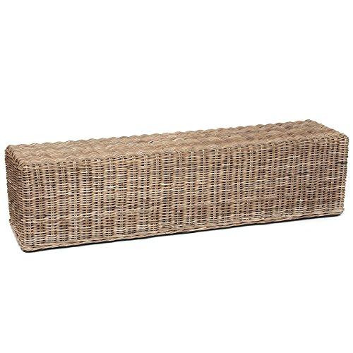 Skalny Kooboo Rectangle Rattan Bench, 71 x 18.5 x 18, Grey (Rattan Kooboo)