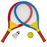 Akokie Badminton Tennis Rackets for Kids 2 In 1 Beach Sport Toy Set with Ball Set Rackets Toy for Children 3 4 5 6 Years Old