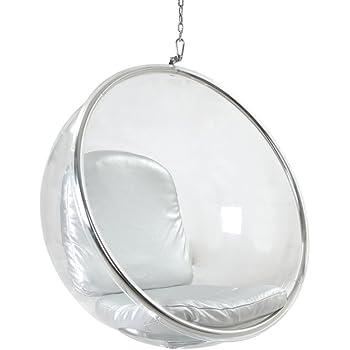 Kardiel Bubble Chair Hanging, Industrial Silver Cushion