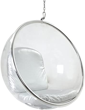 Kardiel Bubble Chair Hanging Industrial Silver Cushion Amazon Ca Home Kitchen