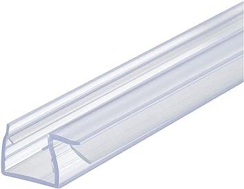 Gedotec Glastür-dichtung Eckdichtung para Mamparas de Ducha | Dusch-Türdichtung Longitud 2000mm | Labio Sellador PVC Transparente | Grueso Cristal 8-10mm | 1 Pieza - Labial Puertas: Amazon.es: Bricolaje y herramientas