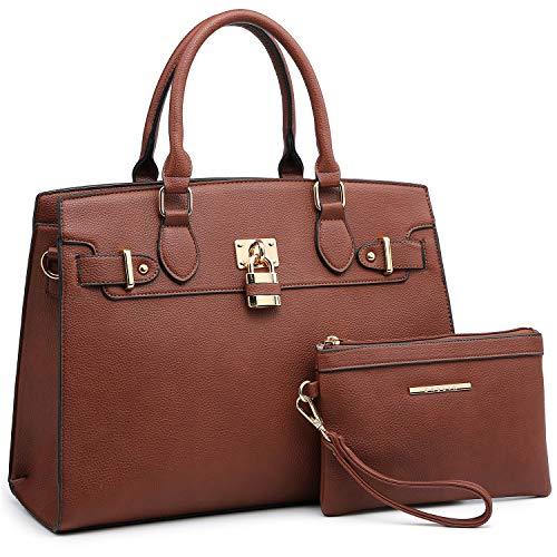 (Women Handbags Designer Shoulder Bags Top Handle Satchel Tote Purse for Ladies with Wallet (23- Coffee))