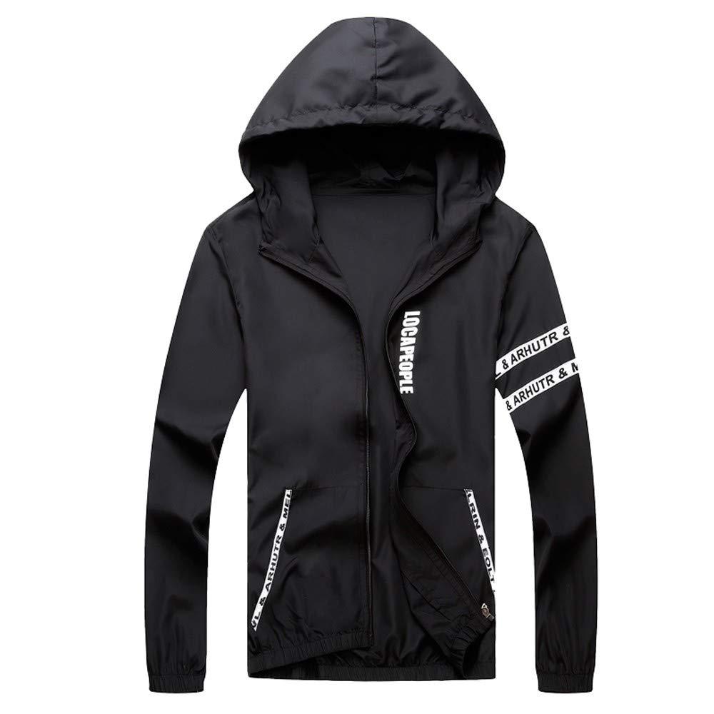 TIFIY Sports Coat, Herbst Draussen Windbreaker Jacke Leichte Bomber Pullover Reißverschluss Brief gedruckt Cardigan Streetwear Hoodie TIFIY-tops