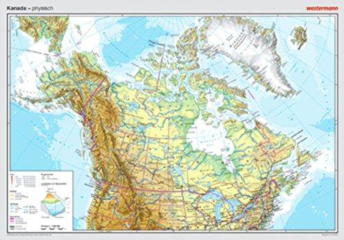 Posterkarten Geographie: Kanada: physisch