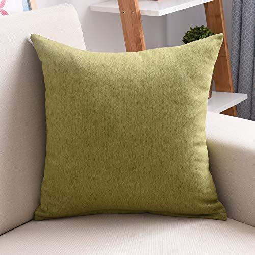 AYQX Almohada de Color sólido sofá Funda de cojín Almohada ...