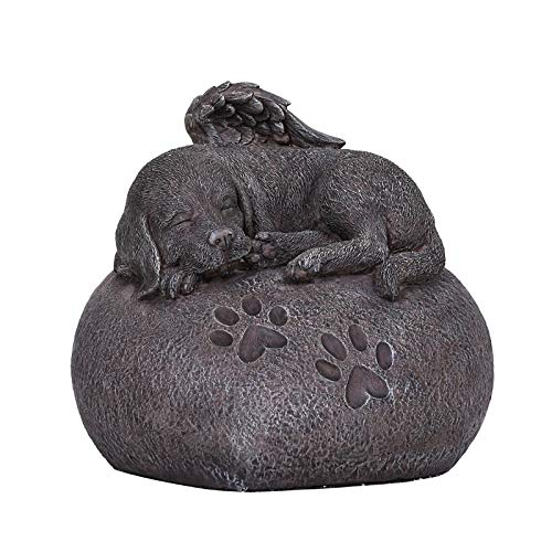 Pacific Giftware Pet Memorial My Love Sleeping Angle Dog Foot Print Rock Urn Bottom Load 30 Cubic ()