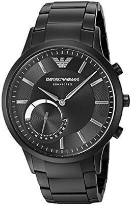 Emporio Armani Connected Hybrid Smartwatch Men's ART3001 Black by Emporio Armani Watches