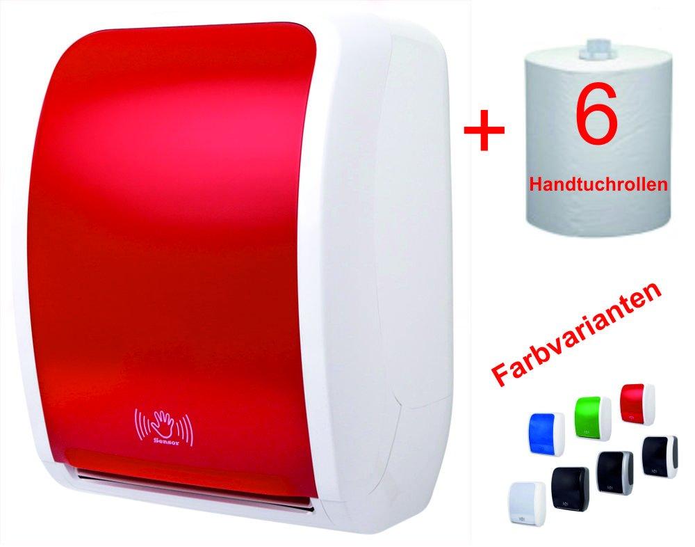 tsk-y Sistema de Juego Toallas de papel toalla dispensador sensor rojo/blanco 4400: Amazon.es: Industria, empresas y ciencia