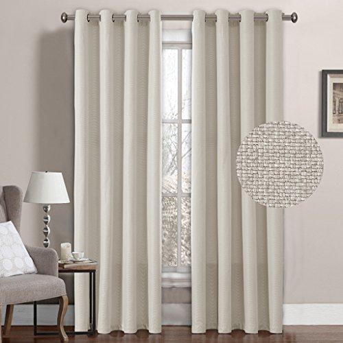 H Versailtex Grommet Curtains Darkening Inch Ivory