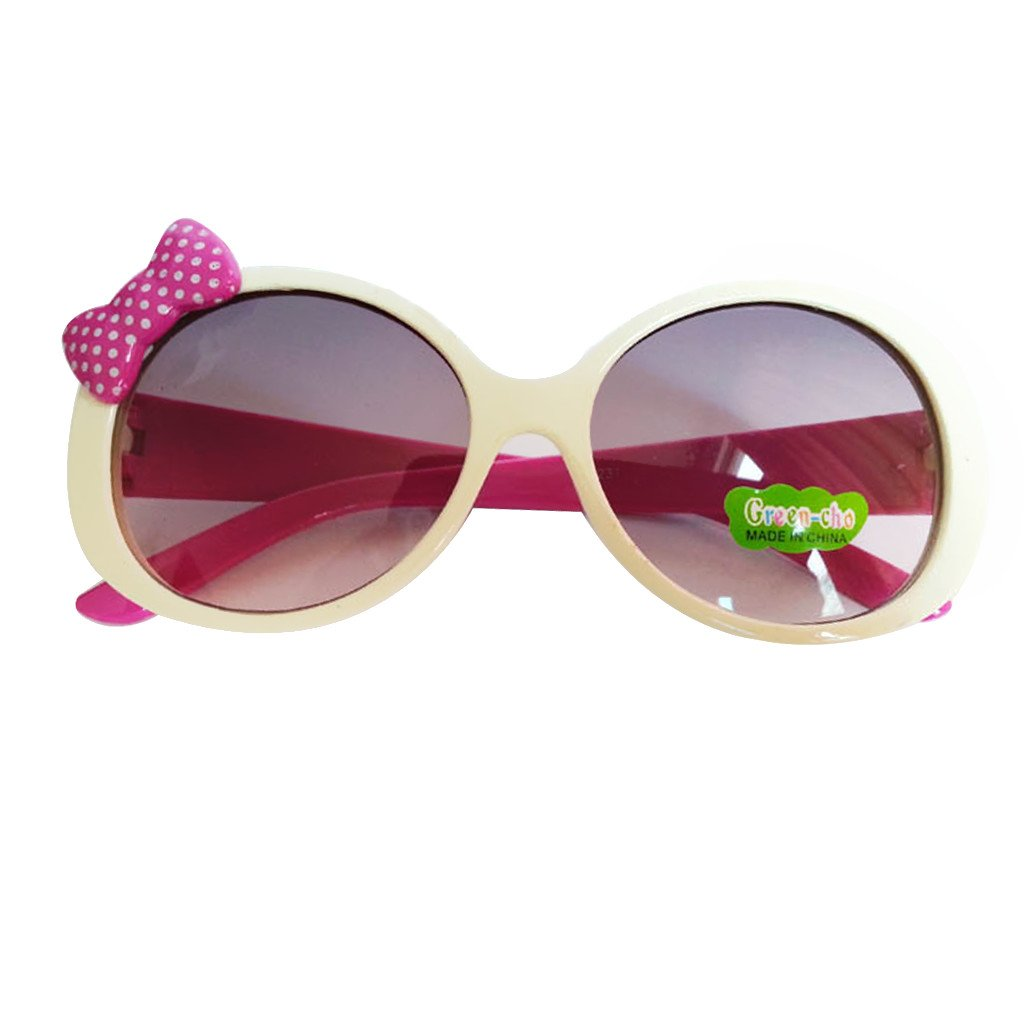 Kids Cute Fashion Bowknot Decoration Fun Sunglasses Gift White Frame Generic STK0115018616