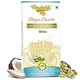 Chocholik Belgium Chocolate - White Coconut And Cardamom Bar - Luxury Belgium Chocolates 100g (3.5 Oz)