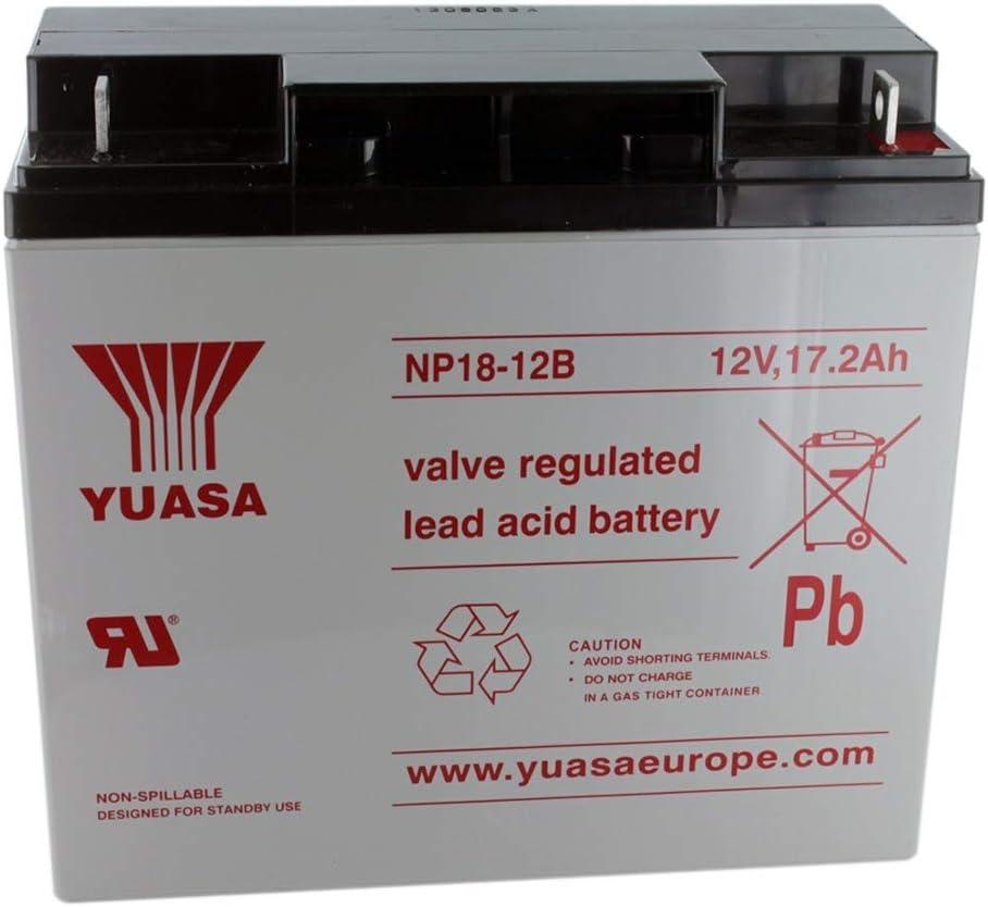 Yuasa NP18-12B 12V/17.2AH SLA Battery with NB Terminal