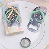 Pop the Top Flip-Flop Starfish Bottle Opener For Wedding Party Favor Gift (84, Blue)