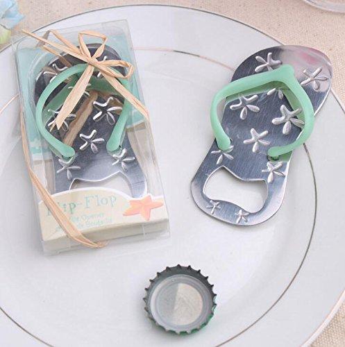 Pop the Top Flip-Flop Starfish Bottle Opener For Wedding Party Favor Gift (84, Blue)