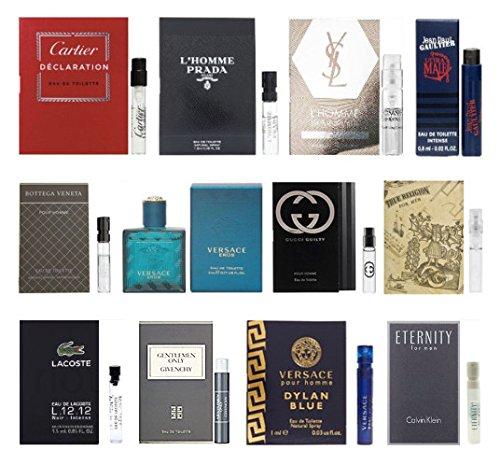 12 men 39 s cologne samples vials miniature set tom ford yves saint laurent hipster beard club. Black Bedroom Furniture Sets. Home Design Ideas