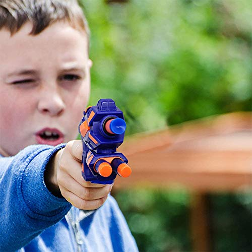 Pistola de Juguete para Niños, Pistola Bláster con 40 Nerf Flechas/Balas, Gafas Protectoras, 1 Dardos Muñequeras, Pistola de Dardos Espuma Infantil, Juegos Tiro, Regalo de Cumpleaños 3-10 Años Niños