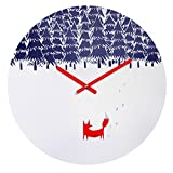 Deny Designs Robert Farkas,  Alone In The Forest , Round Clock, Round, 12