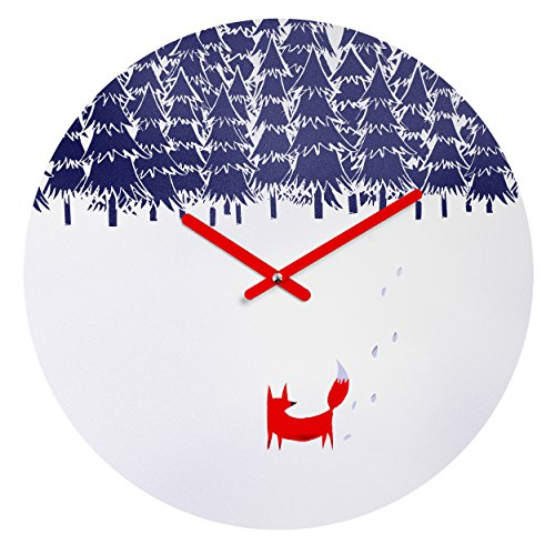 Deny Designs Robert Farkas,  Alone In The Forest , Round Clock, Round, 12'' by Deny Designs