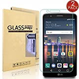 [2-PACK] LG Stylo 3/LG Stylo 3 Plus/LG Stylus 3 Screen Protector, EDSAM 0.3mm [HD Ultra Clear] [Bubble Free] [Anti-Scratch] [Anti-Fingerprint] Tempered Glass Screen Protector for LG LS777
