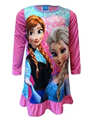 Disney Frozen Anna and Elsa Snowflake Pink Nightgown for girls (4)