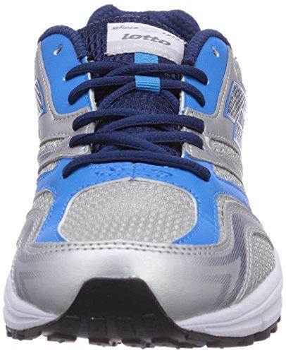 Lotto Sport ZENITH V - zapatillas de running de goma hombre multicolor - Mehrfarbig (MET SIL/CYAN 15)