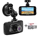 "Senwow Car Dash Cam with 32GB Card, 1080P Full HD Dashboard Camera Recorder 2.7"" LCD 3-Lane Wide Angle On Dash Video Driving DVR with G-Sensor, Loop Recording, Night Vision, Parking Monitor, WDR"