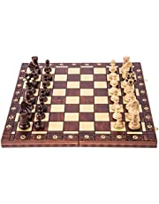 SQUARE - Schack AMBASSADÖR LUX - 52 x 52 – Schackspel - Schackfigurer och schackbräde av trä