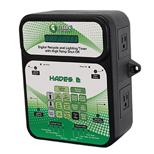 Titan Controls Digital Recycle & Light Timer w/ High Temp Shut-Off, 120V - Hades 2 (Recycle Timer)