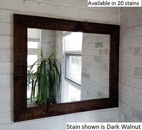 Renewed Décor Shiplap Reclaimed Wood Mirror in 20 stain colors - Large Wall Mirror - Rustic Modern Home - Home Decor - Mirror - Housewares - Woodwork - Frame - Stained Mirror by Renewed Decor & Storage